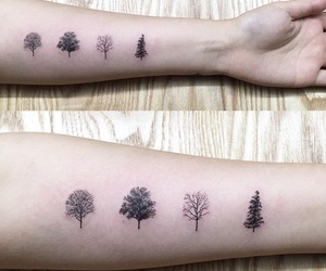 tattoo, trees, and awesome image