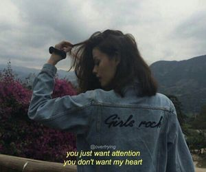 attention, girl, and quotes image