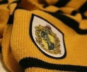hufflepuff, harry potter, and yellow image
