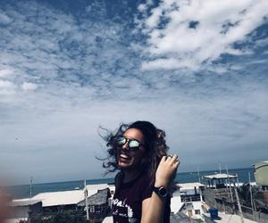 beach, photographer, and sky image