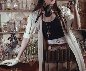 alchemist, steampunk, and laboratory image