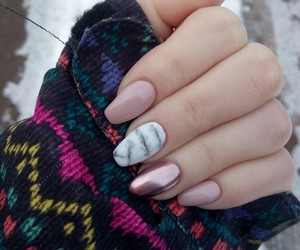 nails, winter, and nailsart image