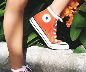 orange, converse, and aesthetic image