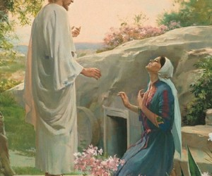 easter, jesus, and Mary Magdalene image