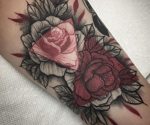 flor, tattoo, and flowers image