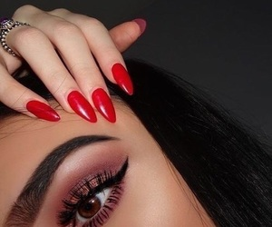 beauty, eyeliner, and flawless image