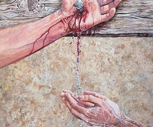 jesus and water image