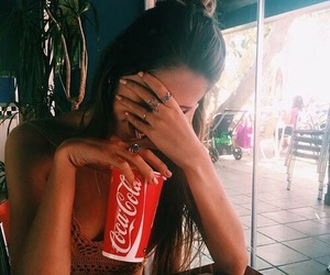 girl and coca cola image