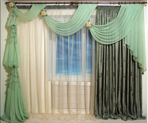 art deco, curtains, and art curtains image