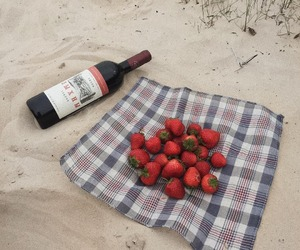 strawberry, wine, and food image