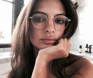 emily ratajkowski, glasses, and emrata image