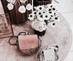 flowers, fashion, and bag image