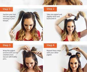 buns, diy, and hair image