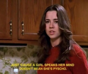 quotes, freaks and geeks, and 90s image