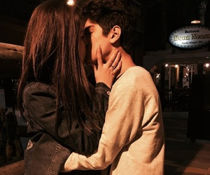 couple, Relationship, and kiss image