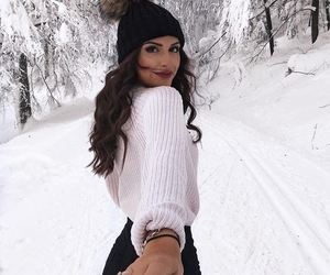 winter, snow, and white image