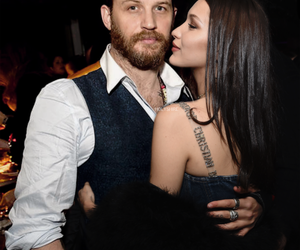 couple, tom hardy, and bella hadid image