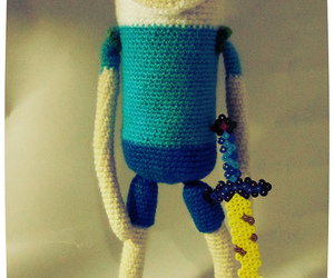 amigurumi, adventure time, and finn the human image