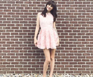 adorable, pink dress, and pretty image