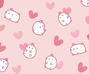cute, wallpaper, and pink image