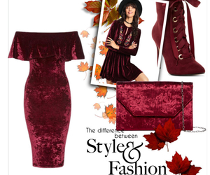 autumn, Polyvore, and red image