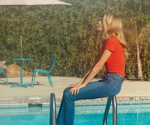 pool, 70s, and fashion image