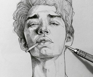boy, draw, and art image
