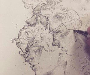 art, draw, and men image