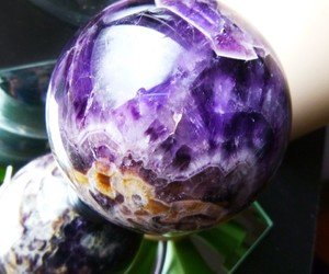 amethyst, citrine, and crystal ball image
