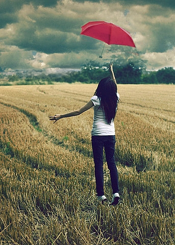 girl, umbrella, and photography image