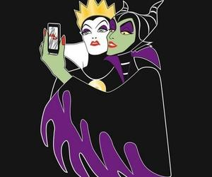 selfie, disney, and evil image