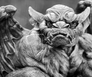 black and white, monster, and creature image
