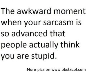 sarcasm, quote, and stupid image