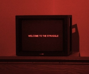 struggle, tv, and grunge image