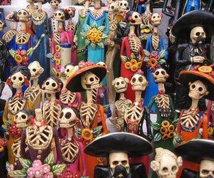 dia de los muertos, skull, and mexico image