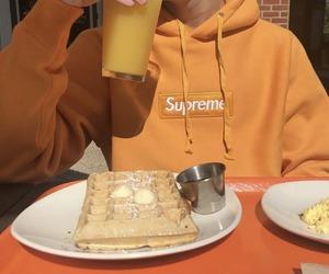 orange, supreme, and aesthetic image