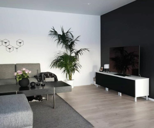 apartment, luxury, and black wall image