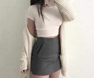 outfit, skirt, and fashion image
