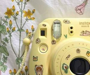 aesthetic, camera, and yellow image