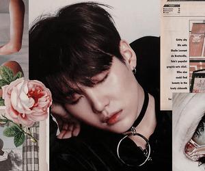 aesthetic, yoongi, and black image