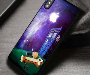 calvin and hobbes, cartoon, and phone covers image