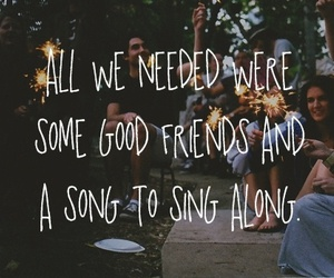 friends, song, and text image