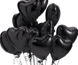 balloons, heart, and hearts image