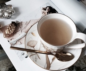 tea, drink, and style image