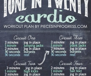 cardio, workout, and fit image