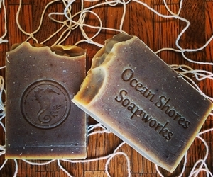 handcrafted soap, handmade soap, and natural beauty products image