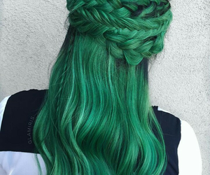 hair, green, and beautiful image