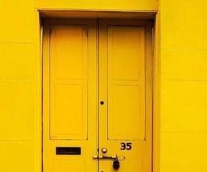 yellow, door, and aesthetic image