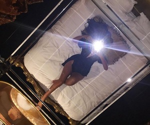 girl, luxury, and bed image