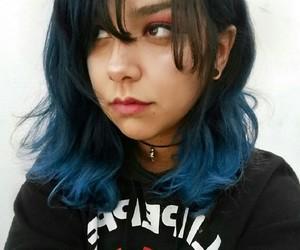 alternative, blue hair, and kawaii image